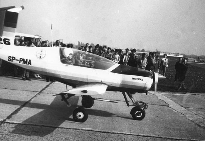 Pierwszy prototyp PZL-126 Mrówka ze zmienioną rejestracją SP-PMA. PZL-Okęcie. 1991r. Zdjęcie Wikipedia