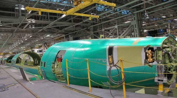 Montaż kadłuba Boeing 737. Wichita 2011r.