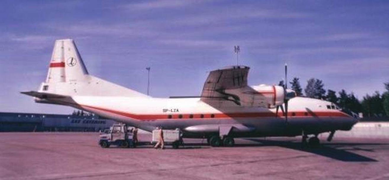 An-12 SP-LZA. 1976 rok. Zdjęcie LAC