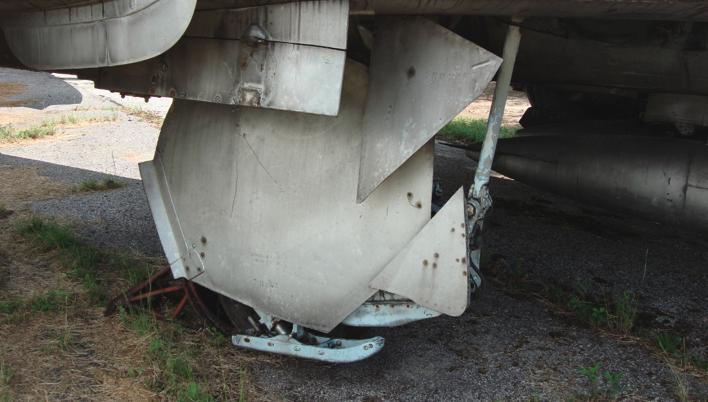Su-7 BKŁ. The skid-wheel chassis. 2008. Photo by Karol Placha Hetman
