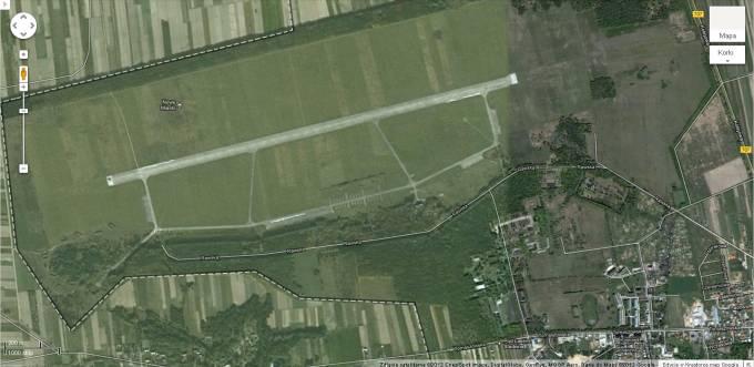 Lotnisko Nowe Miasto nad Pilicą satelita 2012r.