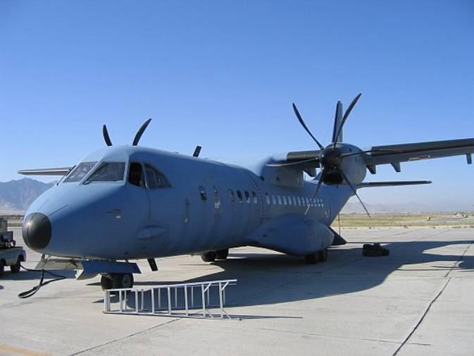 CASA C-295 M nb 011 w bazie Bagram, Afganistan 2007r.