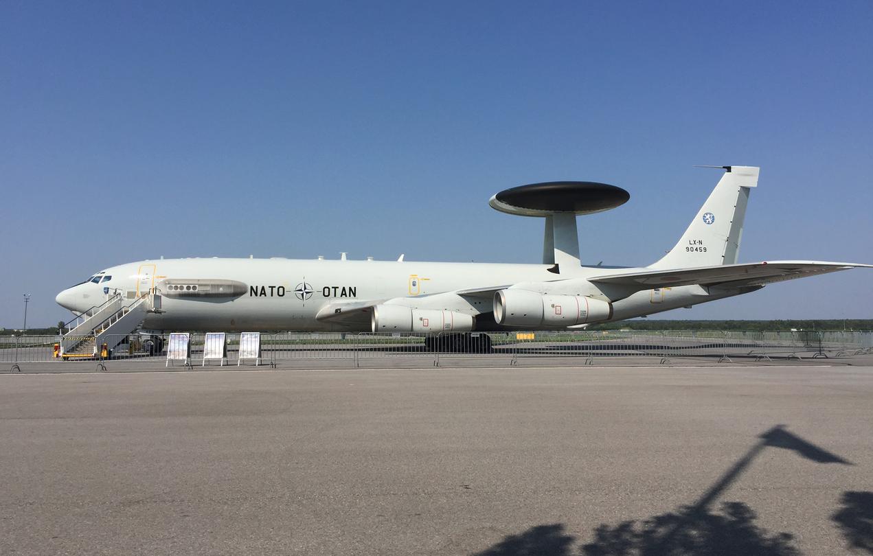 Boeing E-3 Sentry AWACS nb LX-N90459. 2018 rok. Zdjęcie Karol Placha Hetman