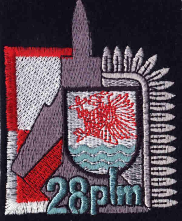 Godło 28 Pułku Lotnictwa Myśliwskiego. Zdjęcie LAC
