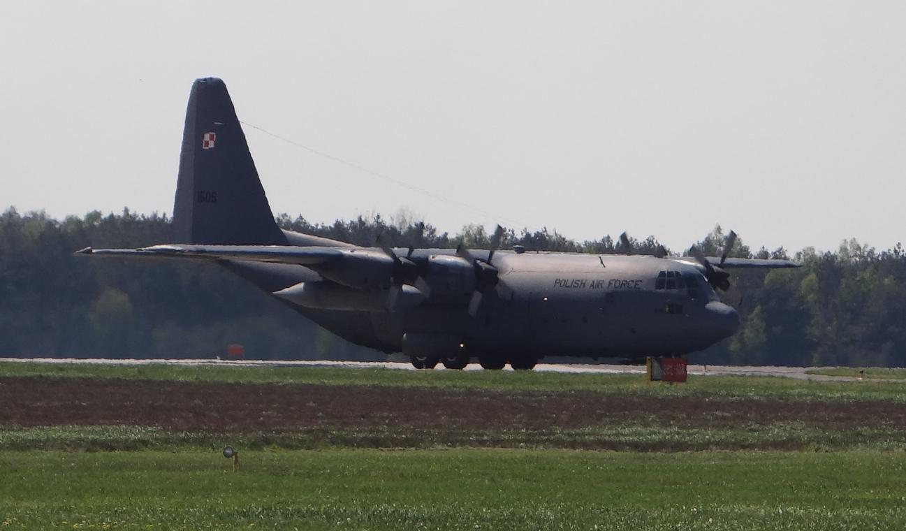C-130 nb 1505. Powidz 2017 rok. Zdjęcie Karol Placha Hetman