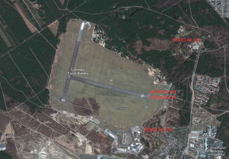 Toruń airport. 2017. Satellite image