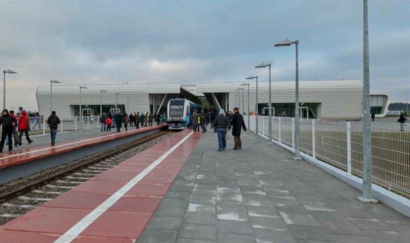 Terminal i stacja kolejki. 2014 rok. Zdjęcie Karol Placha Hetman