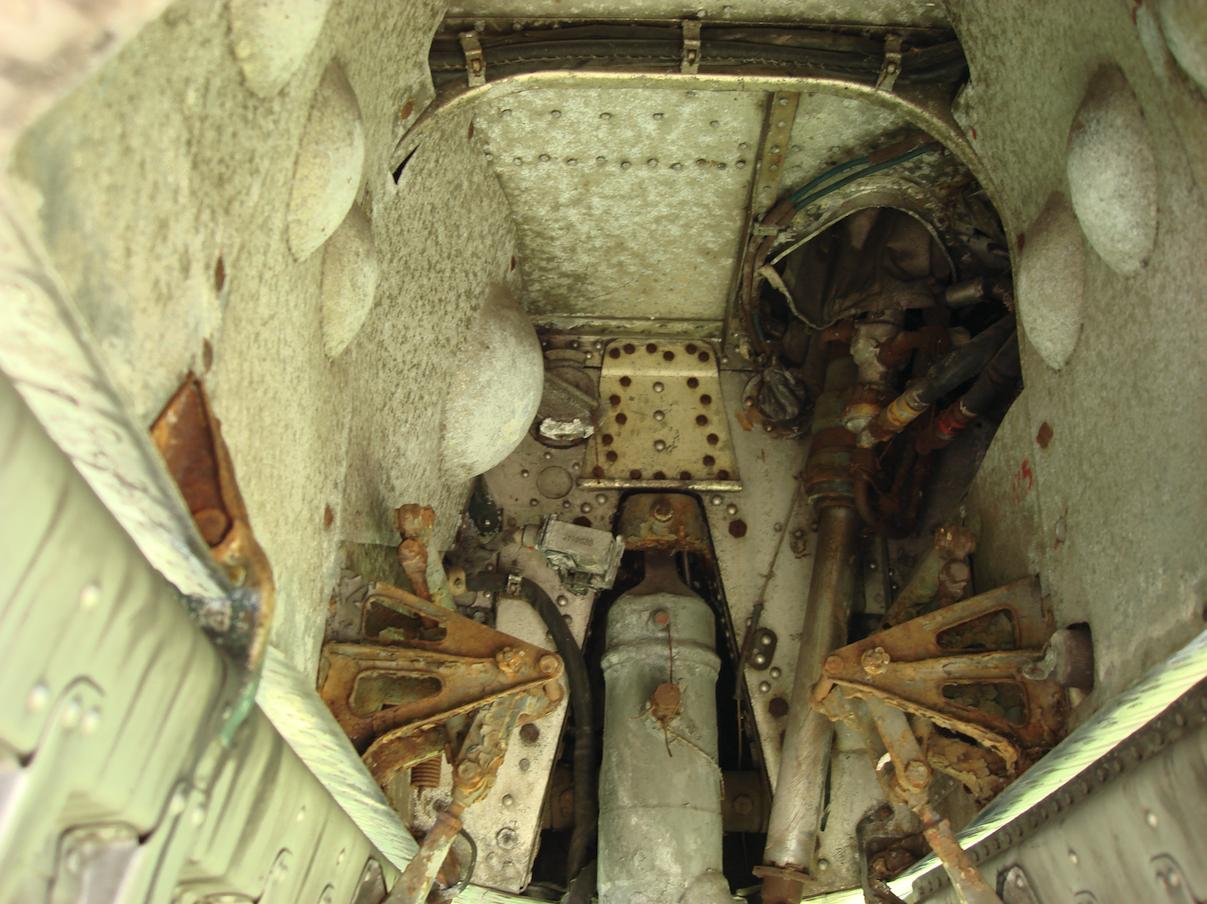 Przednie podwozie - komora MiG-19. 2007 rok. Zdjęcie Karol Placha Hetman