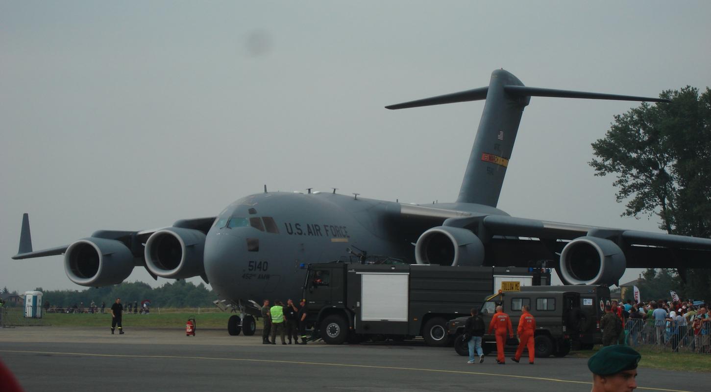 Boeing C-17 Globemaster nb 5140 USAF. 2009 rok. Zdjęcie Karol Placha Hetman