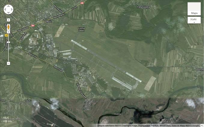 Lotnisko Dęblin na Mapie Rzeczypospolitej 2011r.