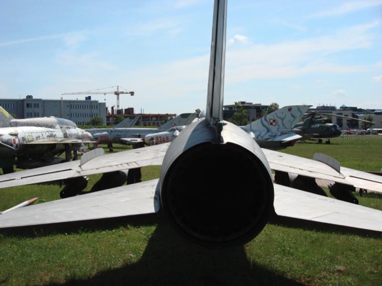 Tylna część kadłuba Su-7 BM nb 06 Czyżyny. 2007 rok. Zdjęcie Karol Placha Hetman