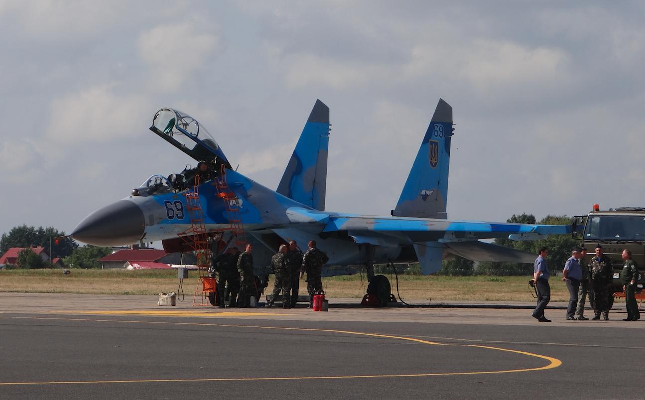 Ukraiński Su-27 nb 69 Air Show 2013 rok. Zdjęcie Karol Placha Hetman