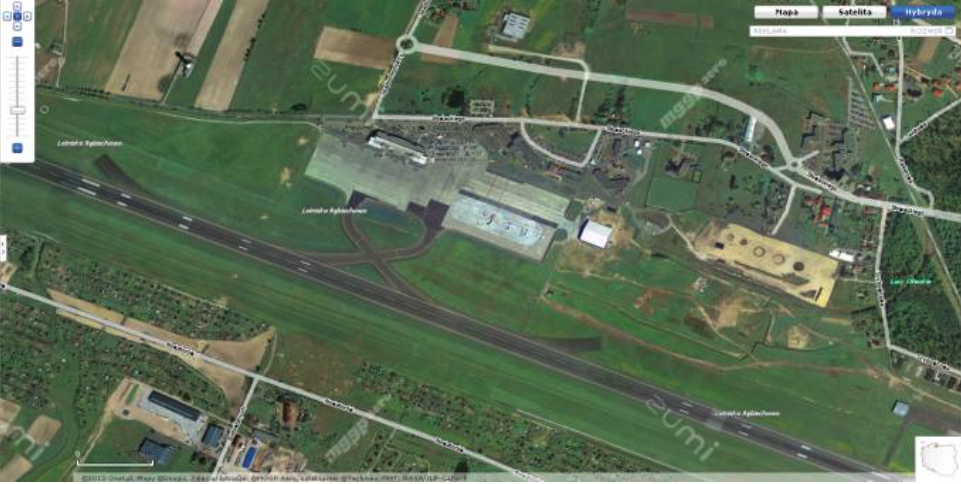 Rebiechowo airport. Before starting the expansion. 2009 year. Photo of zumi