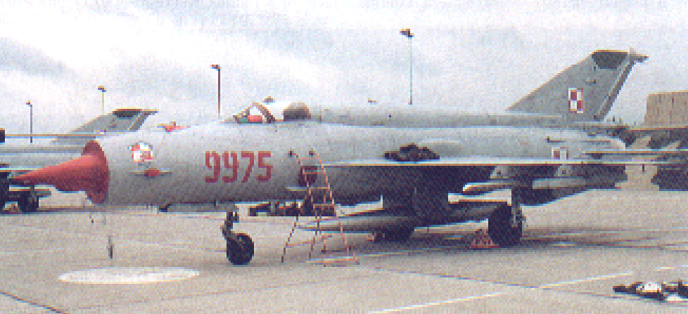 Last MiG-21 bis nb 9975 bought for Poland. 1983. Photo of LAC