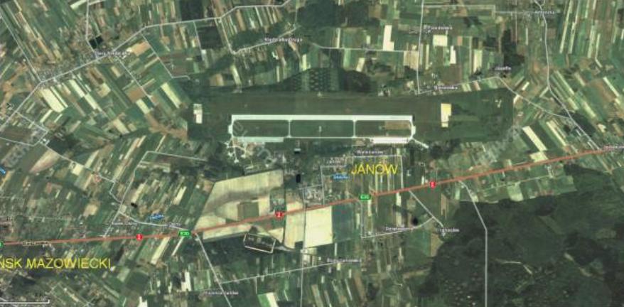 Lotnisko Mińsk Mazowiecki, satelita. 2010 rok. Zdjęcie LAC