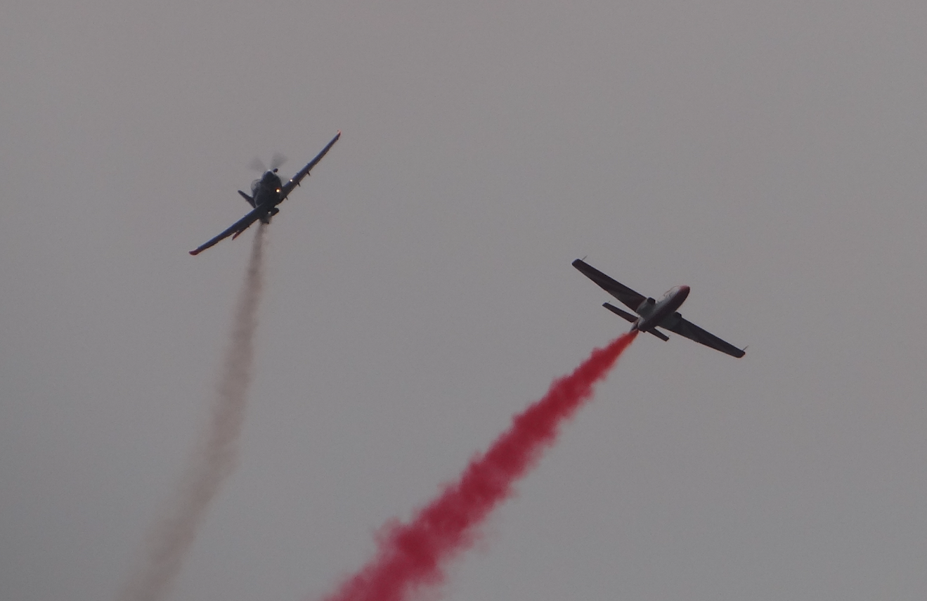 Duet PZL-130 Orlik i TS-11 Iskra. 2021 rok. Zdjęcie Karol Placha Hetman