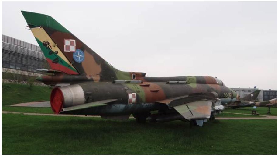 Su-22 M4 nb 3305 Muzeum Lotnictwa Polskiego Czyżyny 2013 rok. Zdjęcie Karol Placha Hetman