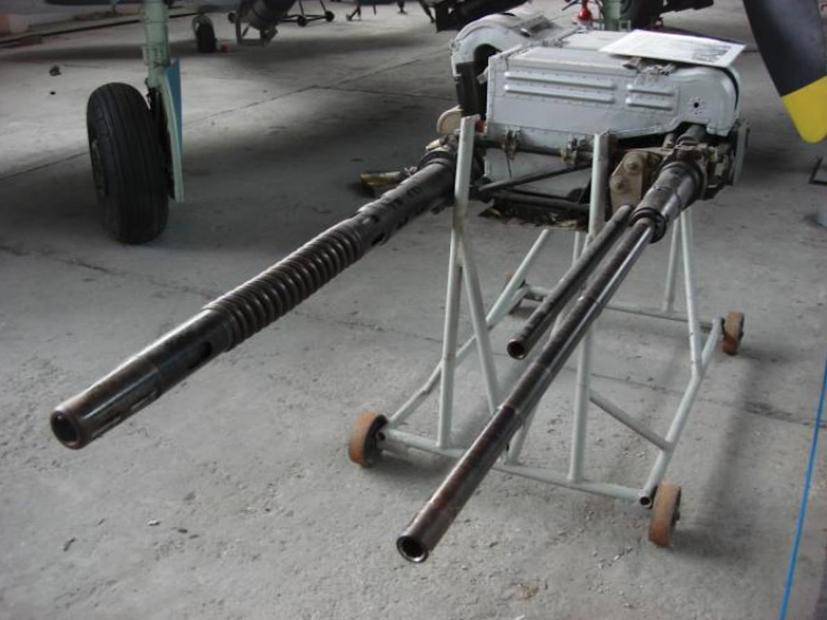 Uzbrojenie strzeleckie samolotów Lim-1. 2008 rok. Zdjęcie Karol Placha Hetman