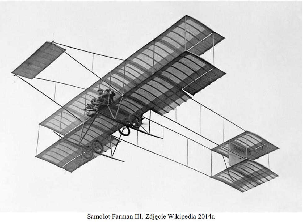 Samolot Farman III. Zdjęcie Wikipedia 2014 rok