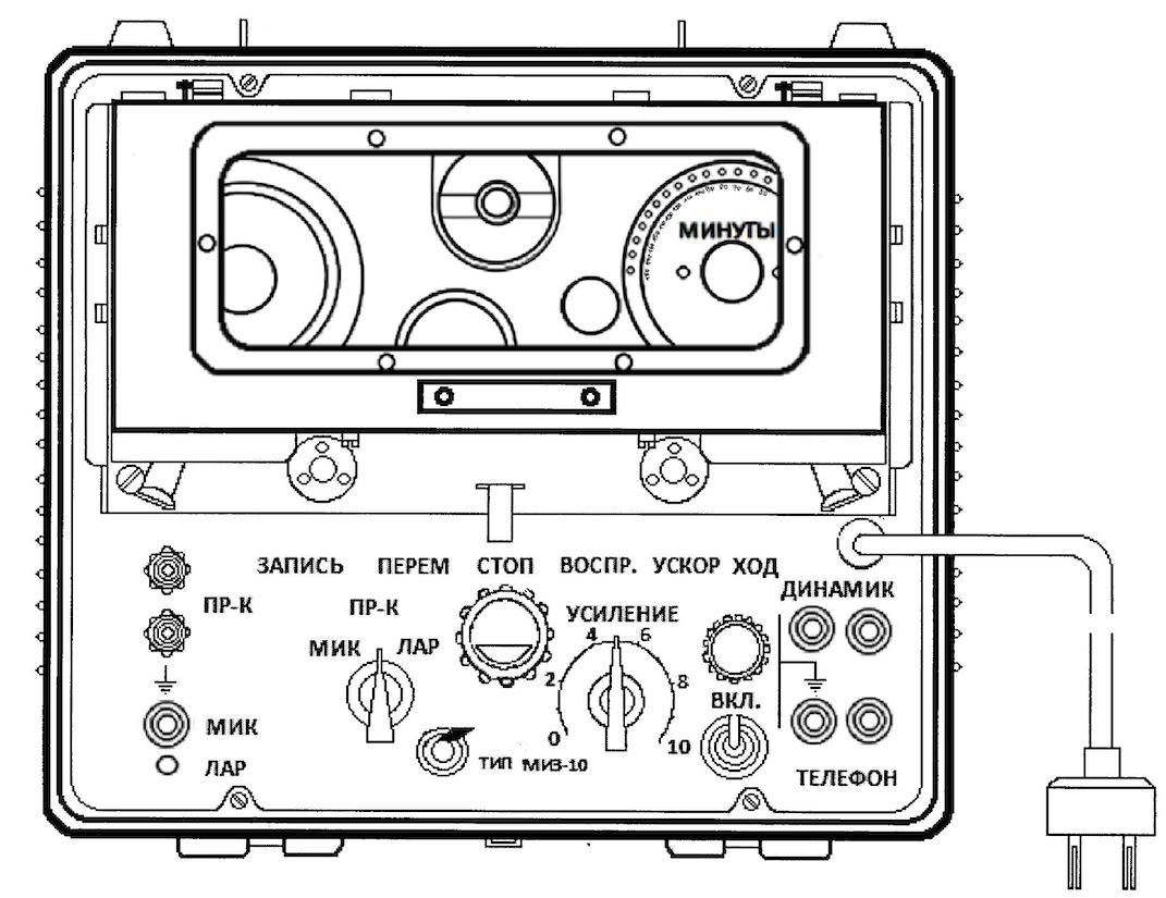 Płyta czołowa magnetofonu MIZ-10