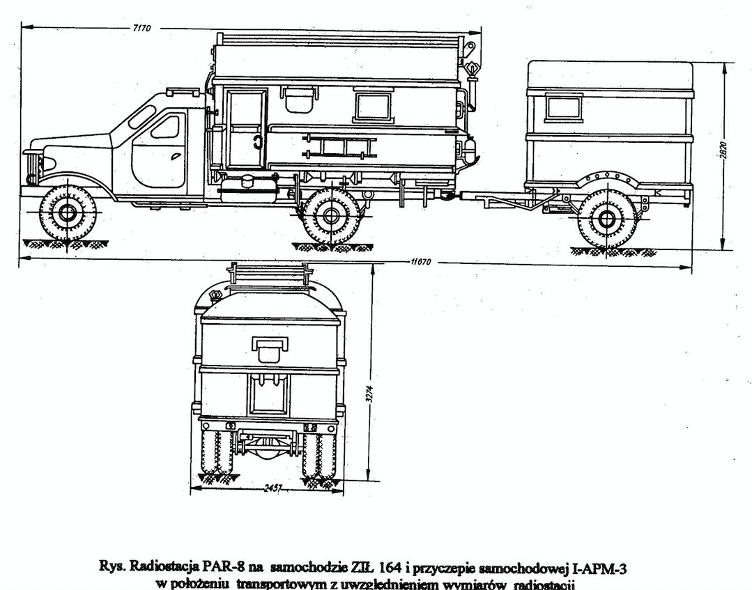 Radiolatarnia PAR-8 rysunek z instrukcji