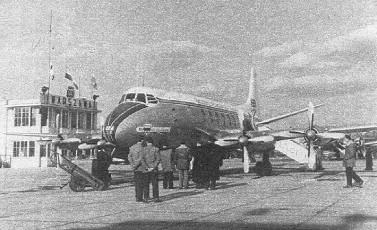 Vickers Viscount Typ 700 na Lotnisku Okęcie 1958 rok. Zdjęcie PLL LOT i British Airways