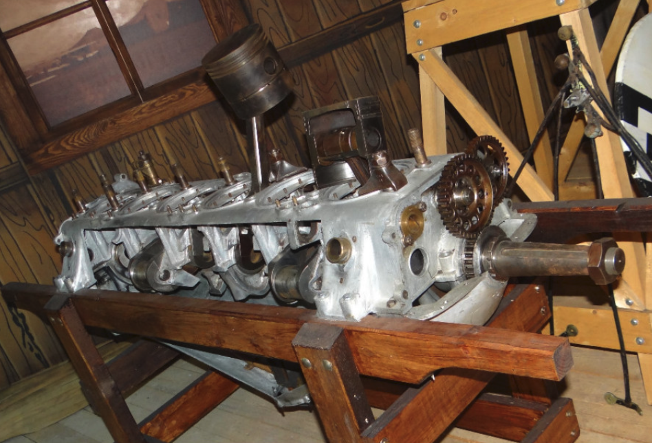 6-cylinder in-line engine from the Great World War period. 2016 year. Photo by Karol Placha Hetman