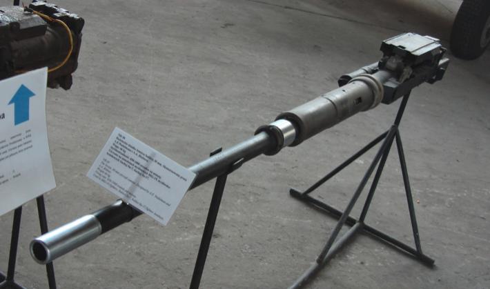 The 30 mm NR-30 cannon used on Su-7 B aircraft. 2009. Photo by Karol Placha Hetman