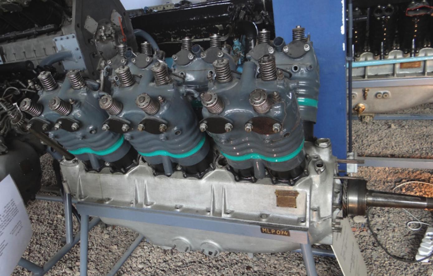Silnik Lorraine Dietrich 12 Db, o mocy 415 KM. 2017 rok. Zdjęcie Karol Placha Hetman