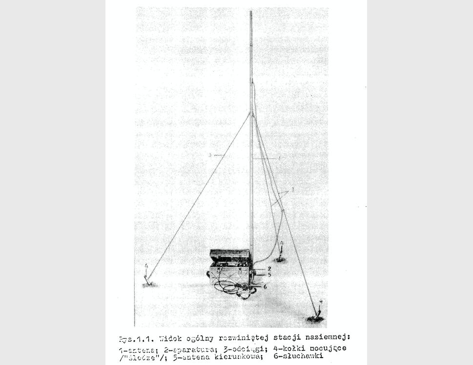 Radiolatarnia desantowa PDSP-2 fotografia z instrukcji