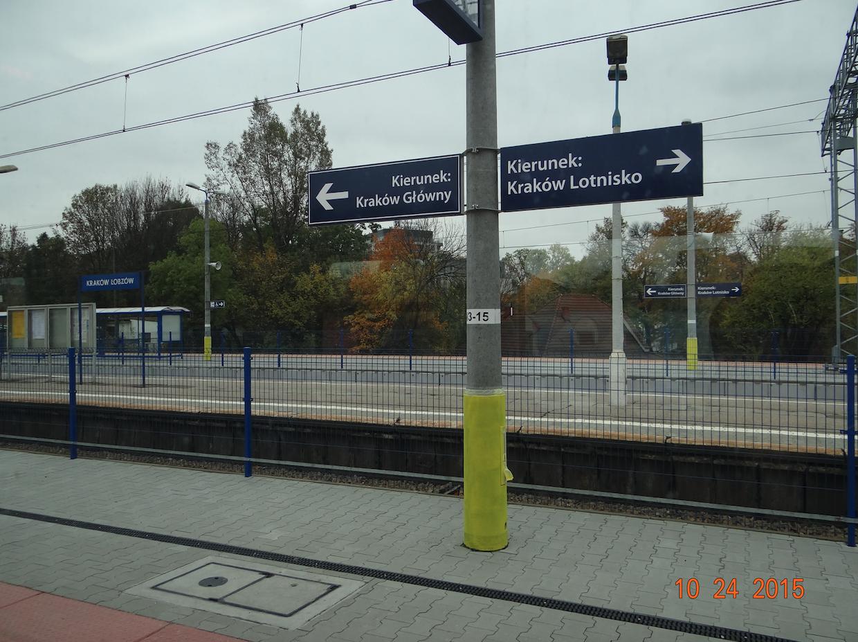 Stacja kolejowa Kraków Łobzów. 2015 rok. Zdjęcie Karol Placha Hetman