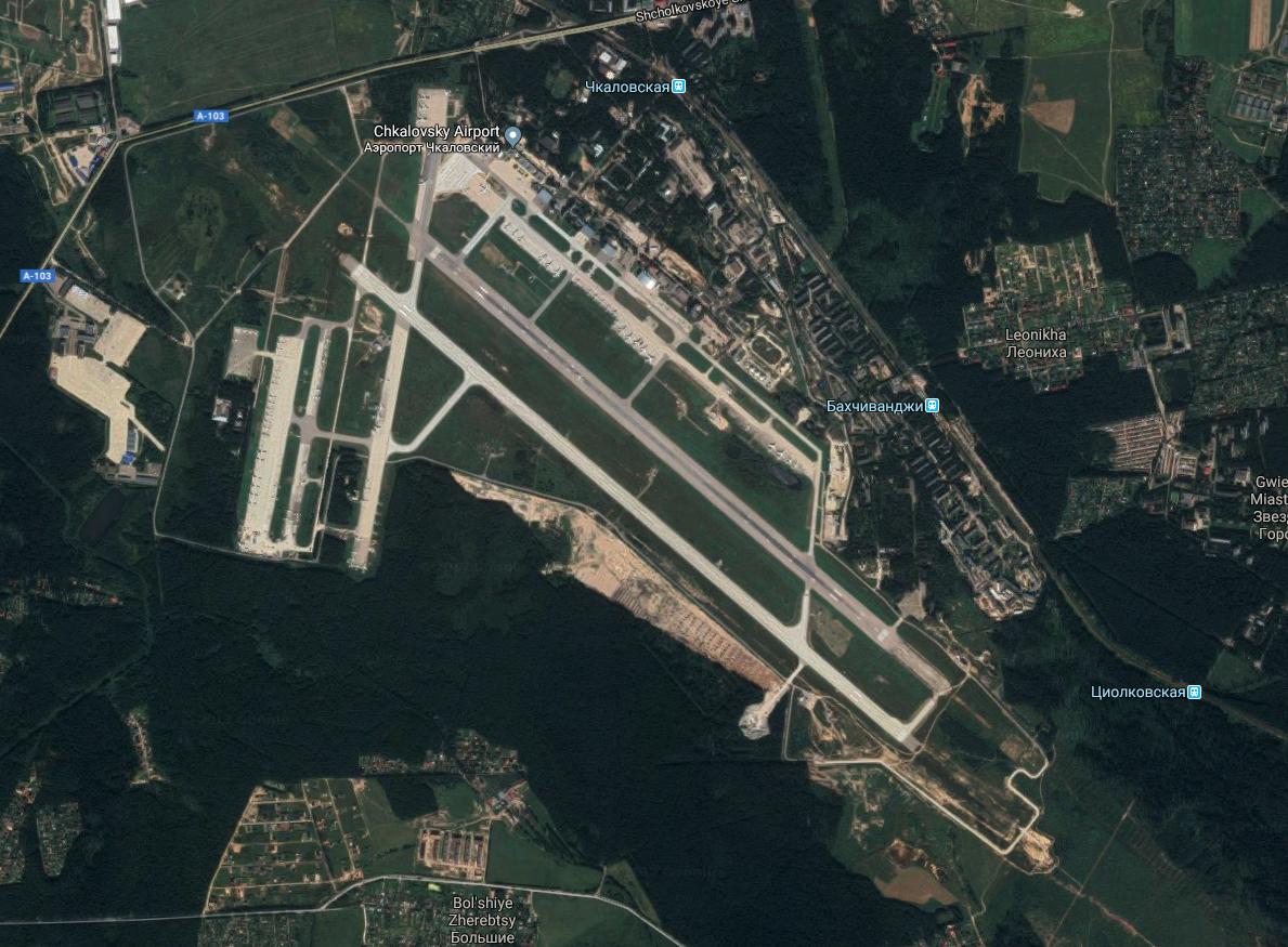 Lotnisko Czkałowski. 2017 rok. Zdjęcie Google