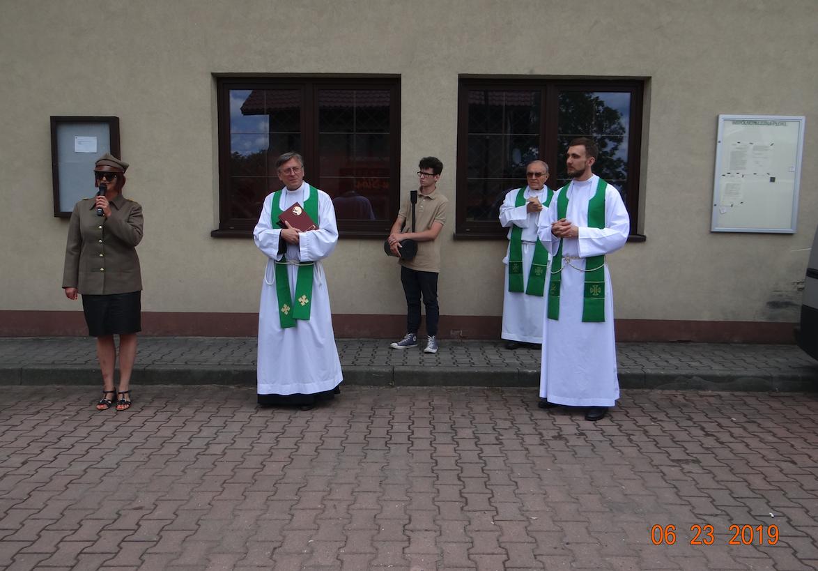 """Uroczystości przy """"Sokolniku"""". Płoki 2019 rok. Zdjęcie Karol Placha Hetman"""