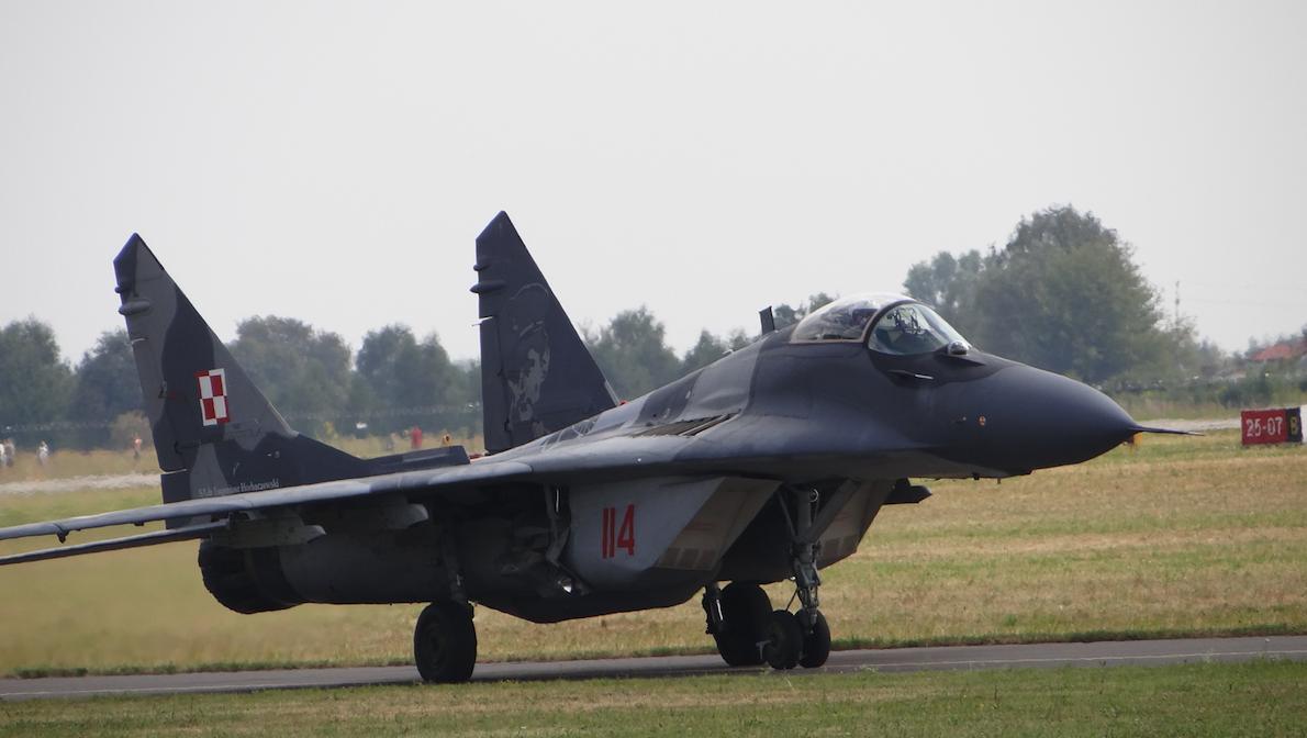 MiG-29 nb 114. Radom 2015 rok. Zdjęcie Karol Placha Hetman