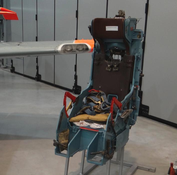 The KS-3 catapult chair (Kresło Suchowo) developed in OKB Suchoj, used in Su-7 BKŁ. Dęblin 2017. Photo by Karol Placha Hetman