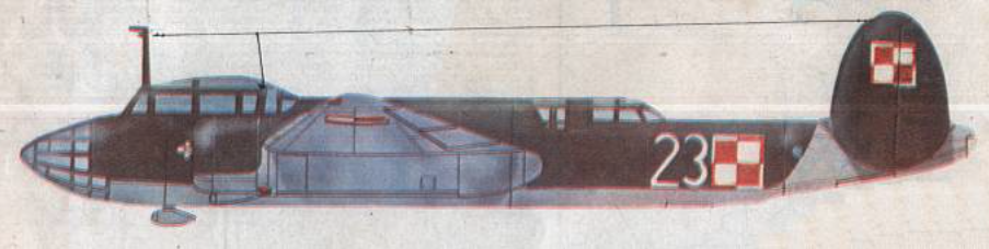 Rysunek UBT nb 23 użytkowany w 7 PLB na Lotnisku Ławica, a następnie w szkole w Dęblinie. Zdjęcie LAC