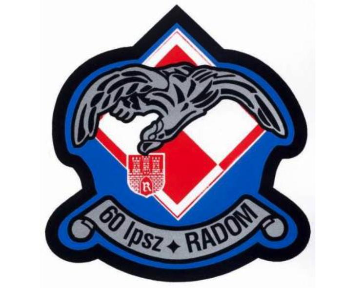 Emblem of the 60 Aviation School Regiment. 1964