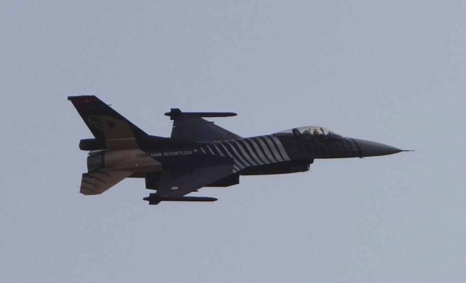 F-16 Tureckich Sił Powietrznych. 2016 rok. Zdjęcie Karol Placha Hetman