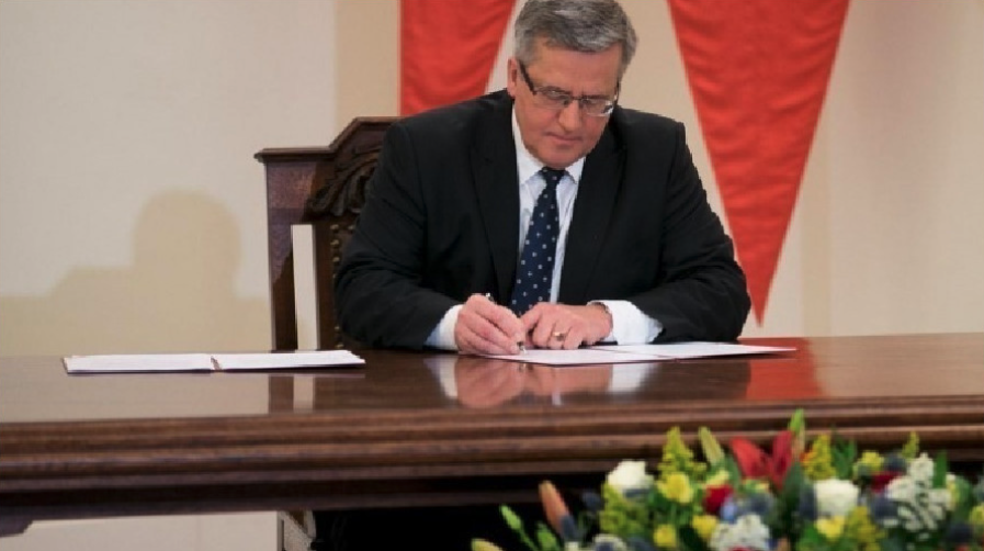 Prezydent Rzeczypospolitej Bronisław Komorowski. Zdjęcie Nasz Dziennik
