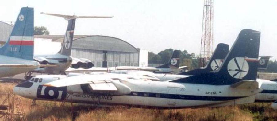 An-24 SP-LTA. 1991 rok. Zdjęcie LAC