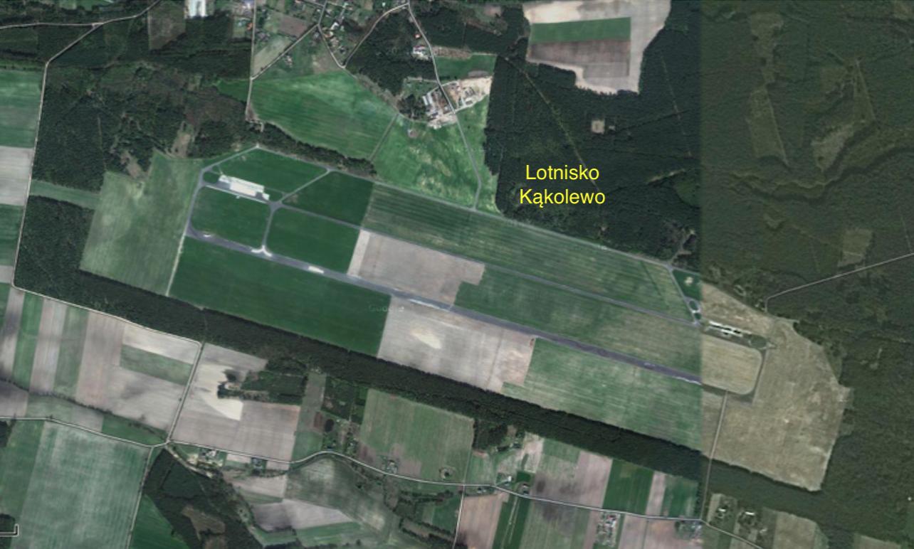 Lotnisko Kąkolewo 2014r. Zdjęcie Google