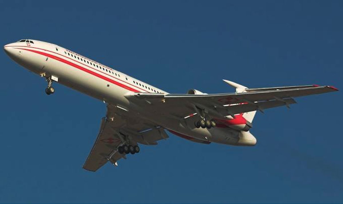 Tu-154 M Lux nb 102. Balice 2004 year. Photo by Karol Placha Hetman