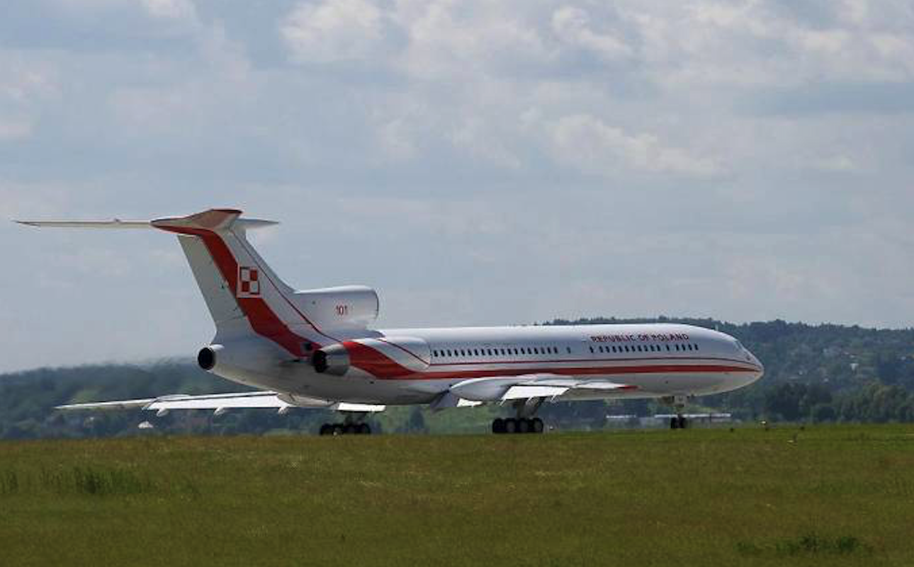 Tu-154 M Lux nb 101. Balice 2004 year. Photo by Karol Placha Hetman