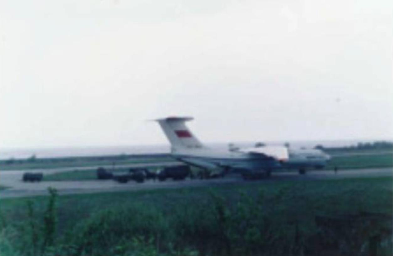 Ił-76 w Bagiczu. 1992 roku. Zdjęcie LAC
