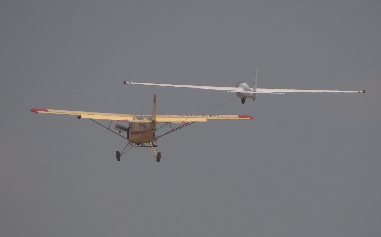 Jak-12 nb SP-KRC, holuje szybowiec. 2019 rok. Zdjęcie Karol Placha Hetman