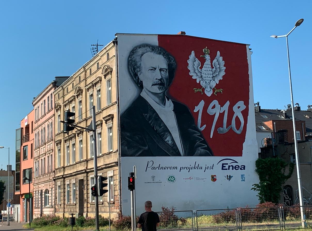 Ignacy Jan Paderewski. Leszno Aleja Jana Pawła II. 2021 rok. Zdjęcie Karol Placha Hetman