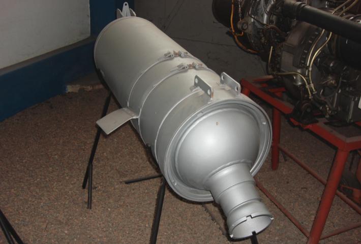 The powder launch rocket SPRD-110 used in Su-7 B. 2009. Photo by Karol Placha Hetman