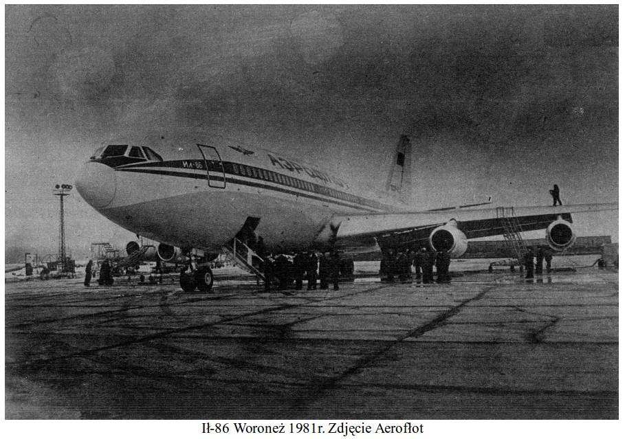 Ił-86 Woroneż. 1981 rok. Zdjęcie Aerofłot