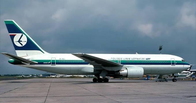B-767-200 ER rejestracja ZK-NBJ. Okęcie 1992r.