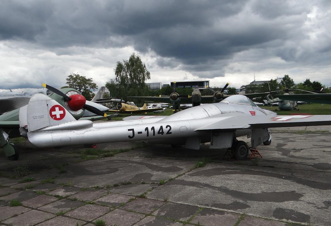 D.H. 100 Vampire FB Mk.6 nb J-1142. 2020 rok. Zdjęcie Karol Placha Hetman
